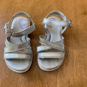 Silver Stride Rite sandals 7.5T